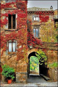 Autumn in Bagnoregio, Toscana, Italy Places Around The World, Oh The Places You'll Go, Places To Travel, Places To Visit, Around The Worlds, Beautiful World, Beautiful Places, Amazing Places, Belle Photo