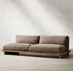 Oak Br l Sled Sofa - Groovy. Diy Sofa, Sofa Design, Ikea Furniture, Furniture Design, Backyard Furniture, Furniture Cleaning, Furniture Market, Luxury Furniture, Office Furniture