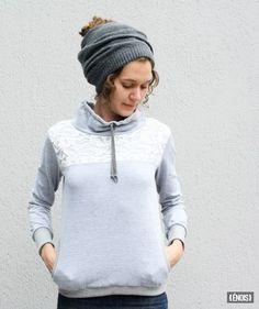 """Sweatshirt mit Spitze """"ROCO"""" von ÉNOIS auf DaWanda.com"""
