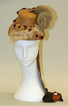 Hat (image 1)   American   1879   straw, silk   Metropolitan Museum of Art   Accession #:  C.I.38.58.1a