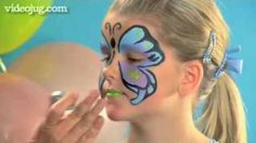 How To Do Face Painting: The Butterfly, via YouTube.