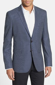 BOSS HUGO BOSS 'Rhett' Extra Trim Fit Check Sportcoat available at #Nordstrom