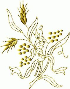 Wheat-N-Grapes #1 embroidery designs