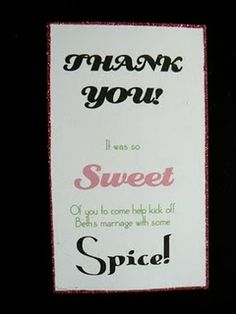Sweet & Spicy Bachelorette Favors
