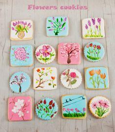 Galletas pintadas flores