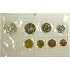 Bundesrepublik Deutschland, Kursmünzensatz 1968, G (2 Pfg. Stahl), PP: Kursmünzensatz 1968 G (2 Pfg. Stahl). Polierte Platte 125,00€ #coins