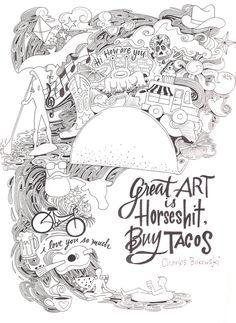 8x10 Bukowski Print by RebeccaBorrelli on Etsy