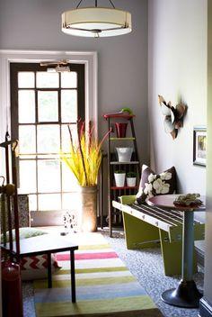 Colourful Mudroom // photo Sarah Hartill // House & Home
