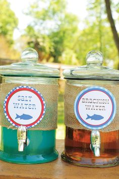 Creative Gone Fishing Birthday Party: Beverage Idea