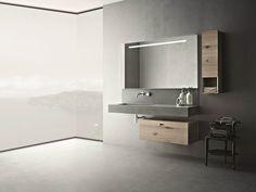 Baño completo de cemento CRAFT - COMPOSITION N02 Colección Craft by NOVELLO | diseño Stefano Cavazzana