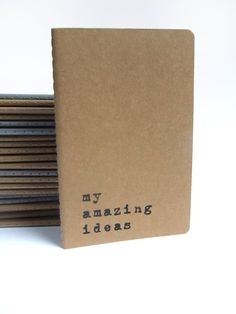 my amazing ideas Printed recycled cover Moleskine by Alfamarama