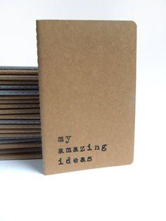 my amazing ideas Printed recycled cover Moleskine by Alfamarama