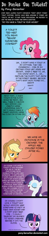 Do Ponies Use Toilets? by *Pony-Berserker on deviantART