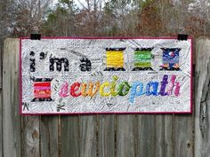 I'm a Sewciopath mini quilt pattern by Flying Parrot Quilts