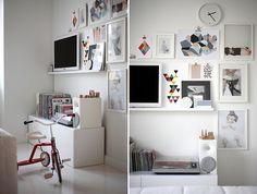 white and geometric