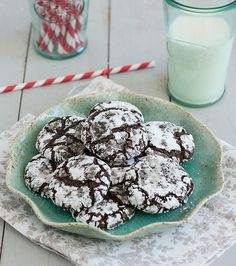 Triple-Chocolate Crinkle Cookies by Traceys Culinary Adventures  More food blog favorites on FeedDaily: http://www.feeddaily.com/