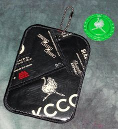 Luggage Tag from Recycled KCCO Black Lager Beer labels by squigglechick, $12.00