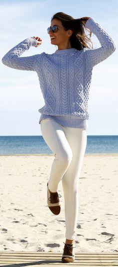 Lovely Light Blue Sweater. For similar elegant knits visit http://mandysheaven.co.uk/ - Womens Fashion UK