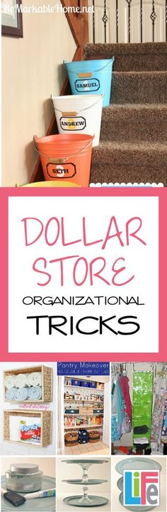 Organizing your home doesn't have to cost a fortune. We love to create something beautiful without breaking the bank so today we are bringing you dollar store organizational tricks.   These ideas are perfect because they are both effective and inexpensive. Best of all, they are absolutely beautiful and no one would