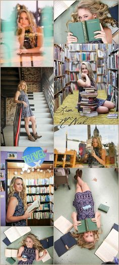 Click for more ideas for beautiful senior pictures, ideas, poses, fashion, Flower Mound, Dallas Photographer, book, bookstore, vintage, stairs