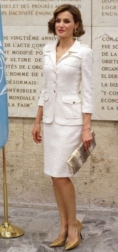 Queen of Spain Letizia during a ceremony of the United Nations Food and Agriculture Organization (FAO) in Rome Friday 12 June 2015 Rome