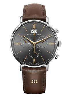 Maurice Lacroix Watch Eliros Chronographe D Swiss Luxury Watches, Swiss Army Watches, Luxury Watches For Men, Best Watches For Men, Cool Watches, Rolex Watches, Patek Philippe, Maurice Lacroix, Beautiful Watches