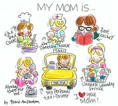 My mom is. By Blond Amsterdam Blond Amsterdam, Mothers Love, Happy Mothers Day, Happy Mom, Tarjetas Diy, Mother And Child, Best Mom, Mom And Dad, Doodles