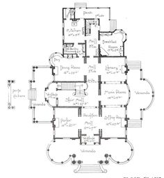 "George F. Barber homes - ""Georgian type Classic Colonial"" 1st Floor Plan"