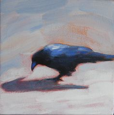 paintings of ravens | Raven and Shadow II"