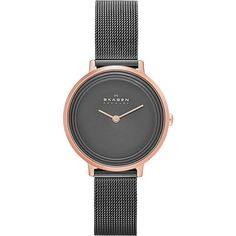 Skagen Women's Stainless Steel Mesh Ditte Grey Dial Watch