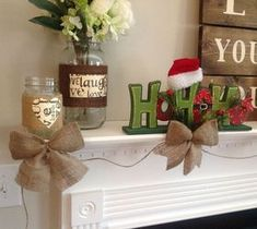 DIY Interesting And Useful Ideas For Your Home: Burlap Bow Garland - Somewhat Cheater Method...