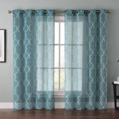 VCNY Stockton Trellis Embossed Sheer Curtain