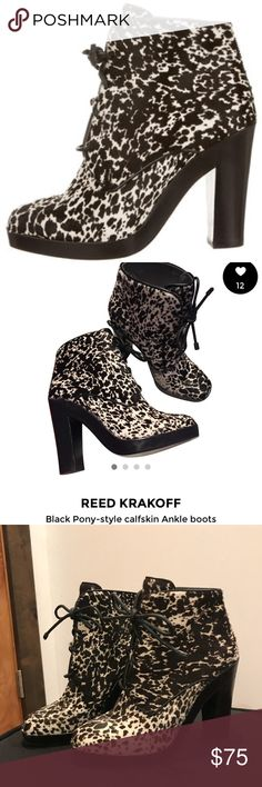 Reed Krakoff Pony Style Calf Skin boots Reed Krakoff Pony Style Calf Skin boots, EURO 38/Size 8. Used condition as seen in photos! Open to all offers 💕 Reed Krakoff Shoes Ankle Boots & Booties