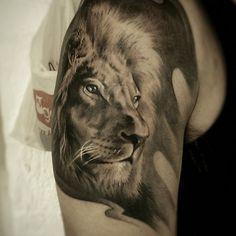 Lion Tattoo made by me #tattoo #lion