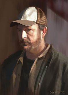 Supernatural Crossovers — Our fan art obsession Bobby Singer study by. Supernatural Drawings, Supernatural Fan Art, Bobby Singer Supernatural, Supernatural Crossover, Study, Studio, Studying, Research