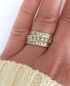 Hey, I found this really awesome Etsy listing at https://www.etsy.com/listing/227585375/customized-ring-sterling-silver-stacking