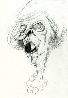Theresa May by Morten Morland