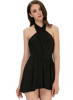Shop Black Cross Halter Backless Sexy Dress online. Sheinside offers Black Cross Halter Backless Sexy Dress & more to fit your fashionable needs. Free Shipping Worldwide!