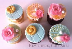 French themed cupcakes. Custom designed for a 25th birthday party.