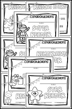 Fun certificates to celebrate reading achievements during the month of reading and throughout the year! So simple to use - type student name straight on the certificate! ($)