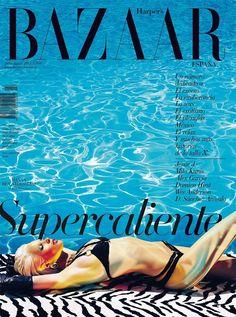 Hanaa Ben Abdesslem Covers Harpers Bazaar Spains July/August 2012 in Agent Provocateur