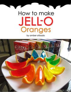 rainbow jelly oranges