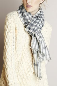 Plaid cashmere scarf by Sole Society