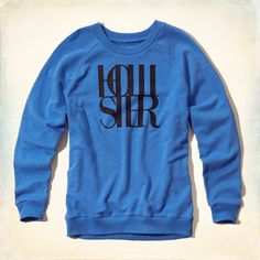 Girls Slouchy Logo Graphic Sweatshirt   Girls Tops   HollisterCo.com
