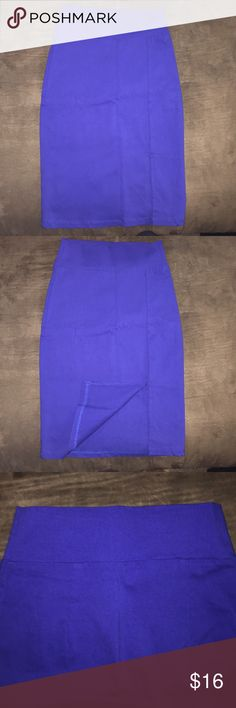 Bright blue pencil skirt! Worn once for an interview, very pretty, looks good with just about anything. Makes your butt look awesome too 😉 Charlotte Russe Skirts Pencil