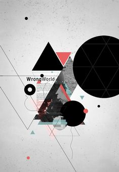 균형_비대칭 Wrong World by angraphics. Like the minimal yet abstract feel to this. Interesting use of simple shapes. Graphic Design Layouts, Graphic Design Posters, Graphic Design Typography, Graphic Design Inspiration, Layout Design, Mises En Page Design Graphique, Illustration Design Graphique, Graphisches Design, Logo Design