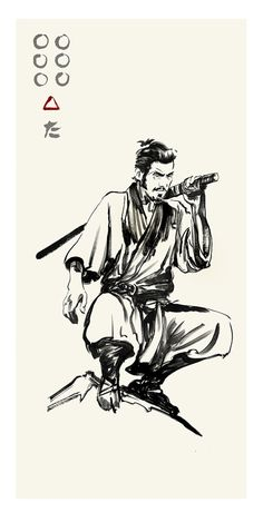 "valsedelalune: ""Greg Ruth - Seven Samurai Artwork. Amazing ink techniques! http://www.gregthings.com/ """