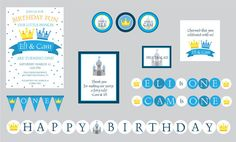 Prince Theme Birthday Party Prince Theme por CrowningDetails