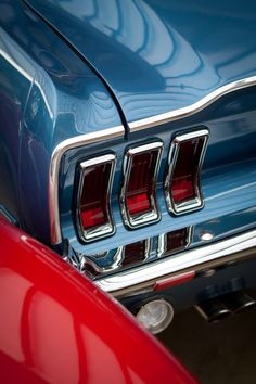 1967 Mustang, that looks like the color and back of my dream car! I have pictures of it:) I bet If you saw the whole car it'd be a 67 fastback