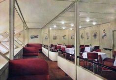 the Hindenburg interior, 1930s